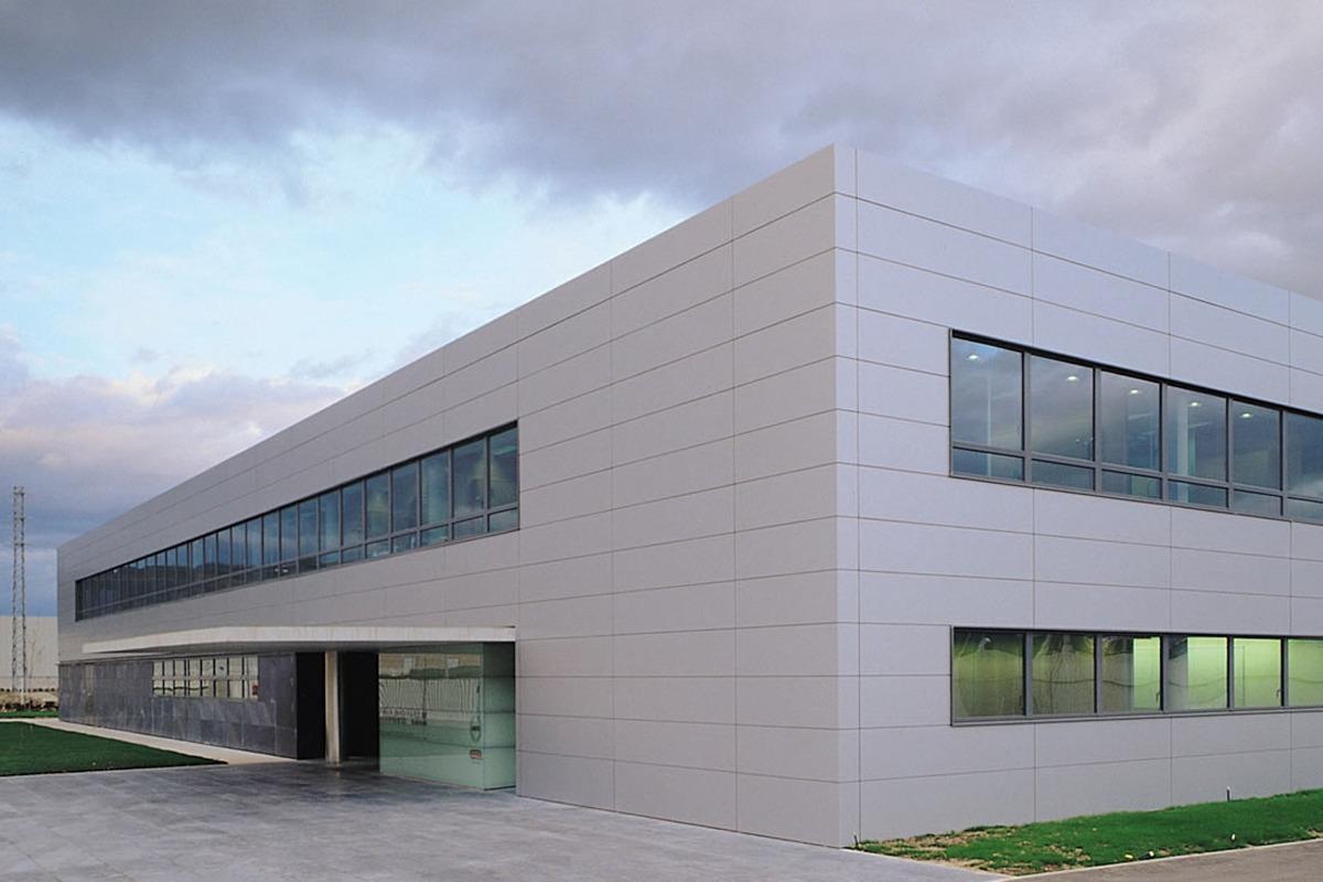 Exterior de las instalaciones de Timac Agro en Orkoien.