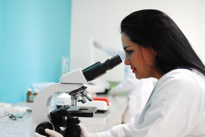científica microscopio