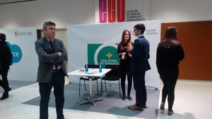 El 'stand' de Caja Rural de Navarra en el Career Forum 2019.
