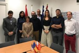 Los participantes en la reunión de lanzamiento del proyecto transfronterizo F-COMP