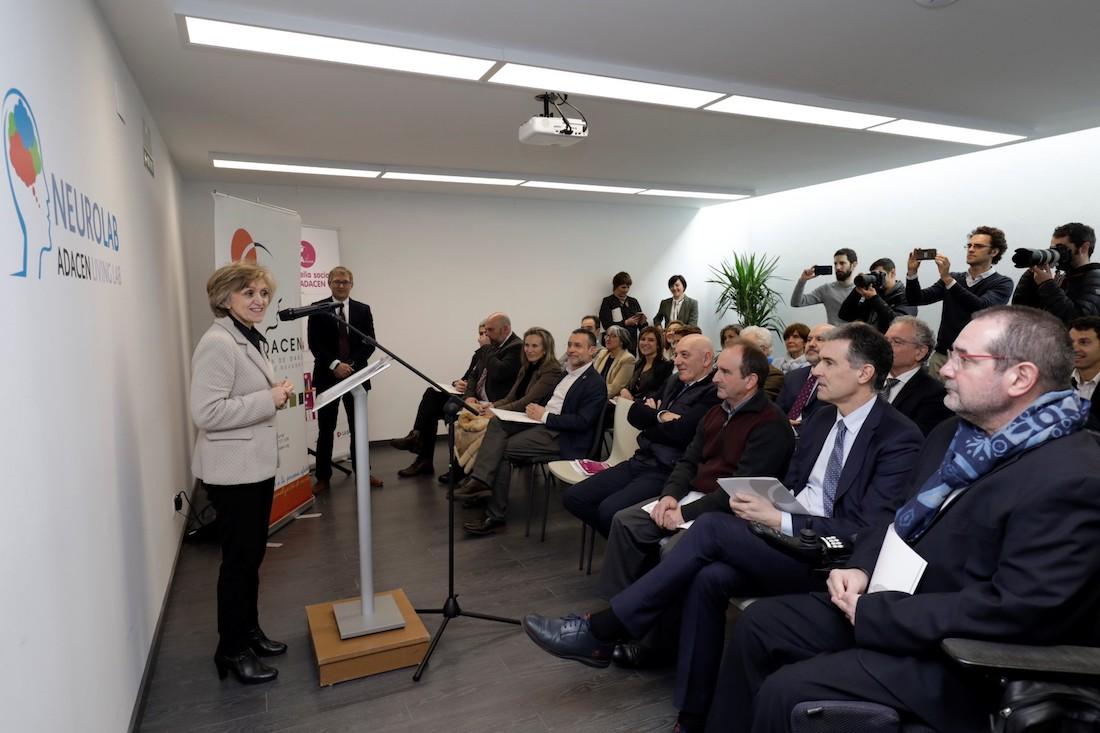 Intervención de la ministra durante la inauguración de este centro de innovación social.