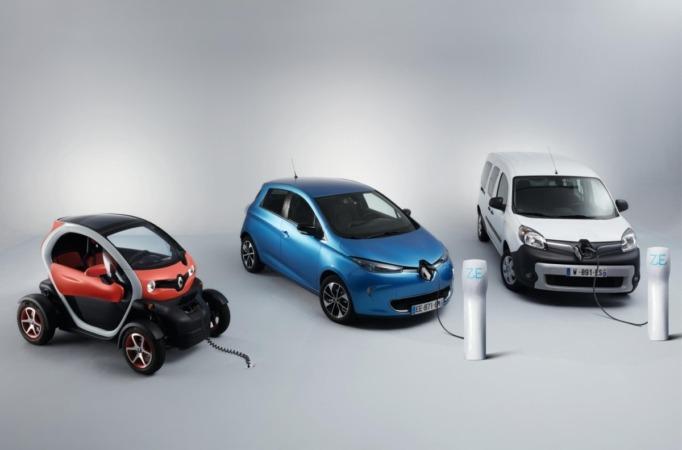 Gama de vehículos eléctricos Renault.