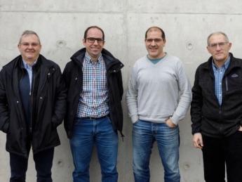 Investigadores de la UPNA implicados en el proyecto DOCTOR PV: Alberto Córdoba, José Javier Astráin, Jesús Villadangos y José Ramón González de Mendívil.