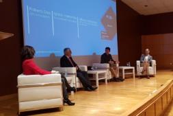 Alfonso Antoñanzas, Ignacio Aramendía y Roberto Díaz, en el DayOne Innovation Summit de CaixaBank.