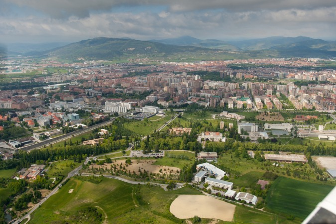 Vista general del campus de Pamplona de la Universidad de Navarra.