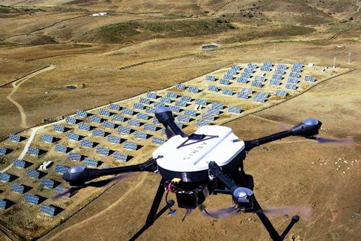 El proyecto valora las ventajas del uso de drones en la gestión de las huertas solares.