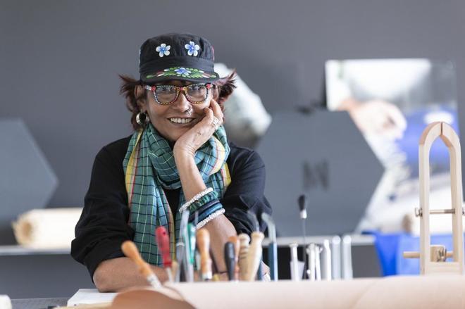 Bibi Russell, fotografiada en la Universidad de Navarra. (Foto: Manuel Castells).
