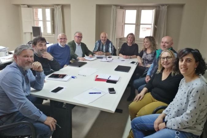 Reunión en Tudela de la 'Mesa de Actores' para la puesta en marcha de este proyecto cooperativo.
