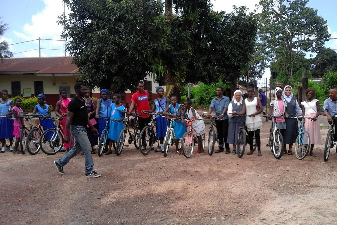 Imagen en Sierra Leona del proyecto de las Hermanas Clarisas que ha apoyado económicamente Conservas Pedro Luis. (foto cedida)