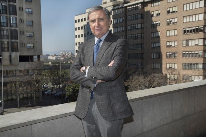 José Antonio Sarría, fotografiado en la sede de la Confederación de Empresarios de Navarra.