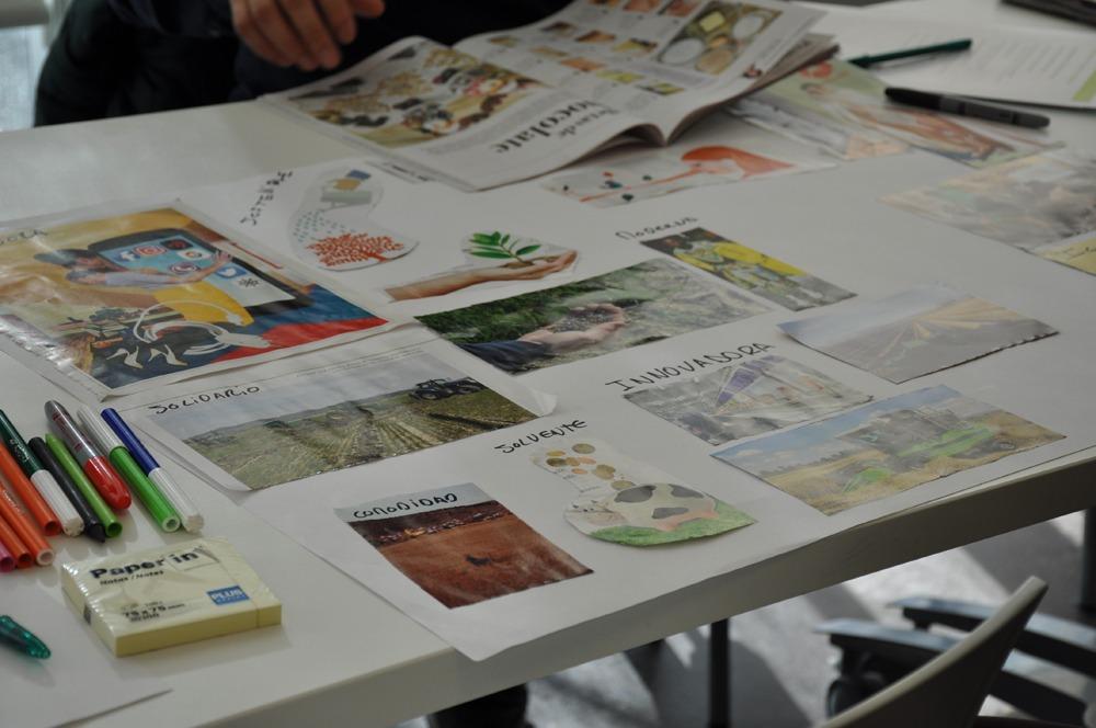 Los jóvenes agricultores plasmaron sobre el papel cómo quieren que sea la cooperativa del futuro.