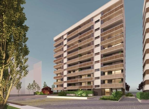 Imagen del proyecto del edificio Solarhaus de Construcciones Domeño.