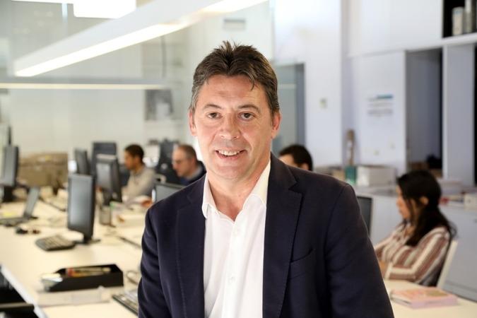 José Emilio Mendívil, CEO de Solartia, en las oficinas de la empresa en Pamplona. (Foto: Javier Ripalda)