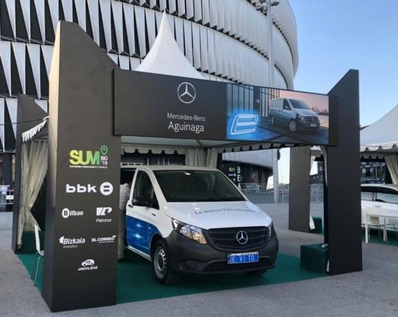Mercedes-Benz presenta la eVito, que se comercializará en verano.