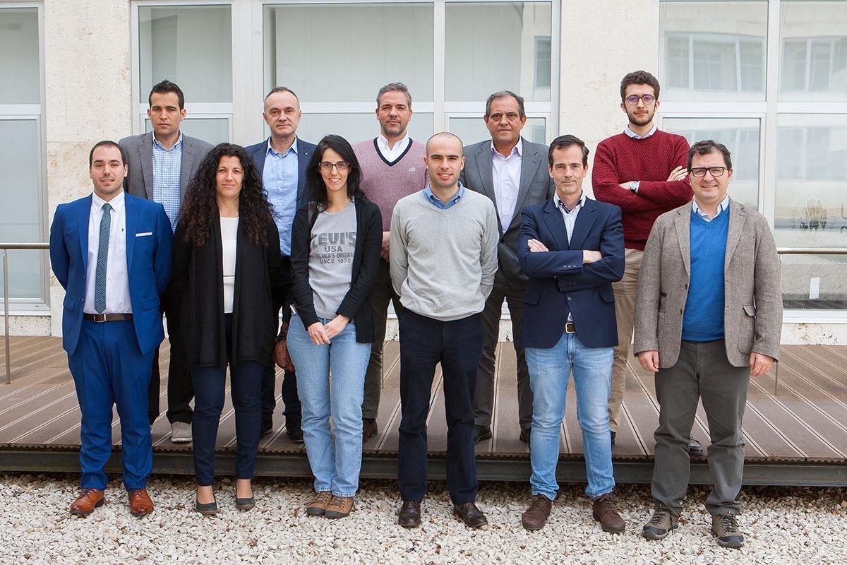 Los representantes de las empresas que participan. (Fotos: Manuel Castells).