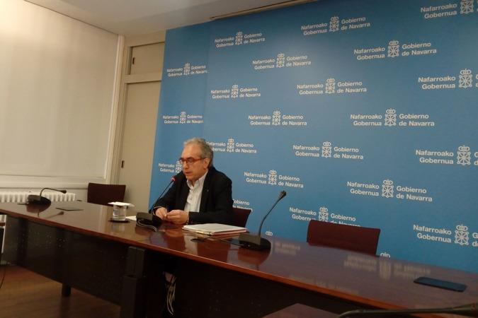 Patxi Tuñón, durante la presentación de los datos del paro de febrero.
