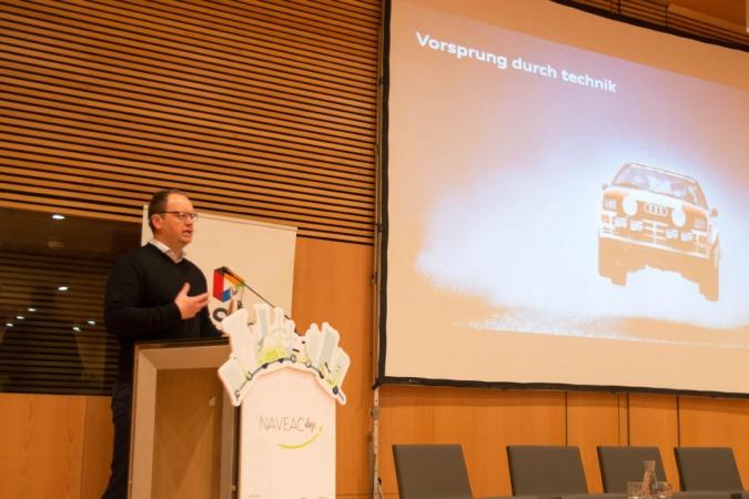 Kjell-Arne Wold, durante su conferencia en los NaVEAC days.