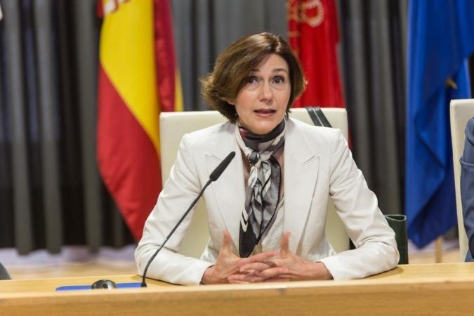 Isabel María Oliver, secretaria de estado de Turismo, durante su intervención en el Ribera Forum.