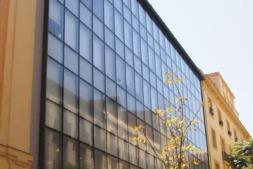 Fachada del edificio del CDTI, en Madrid.