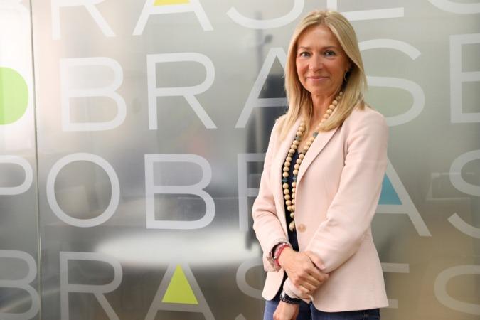 María José Ballarín, fotografiada en la sede de su empresa, Obras Especiales.
