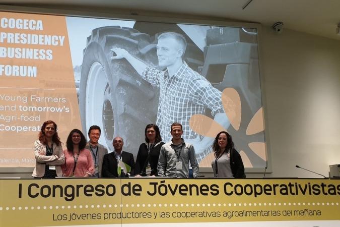 La delegación de UCAN que acudió al congreso de Jóvenes Agricultores celebrado en Valencia.