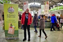 Edorta Lezaun Etxalar, presidente del Consejo de la Producción Agraria Ecológica de Navarra, CPAEN-NNPEK, en la Feria.