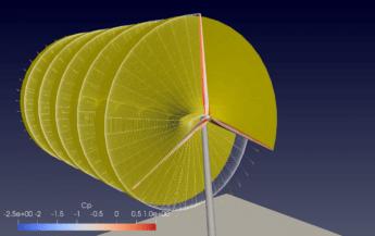 Modelización de un aerogenerador virtual de 10MW. Imagen CENER.