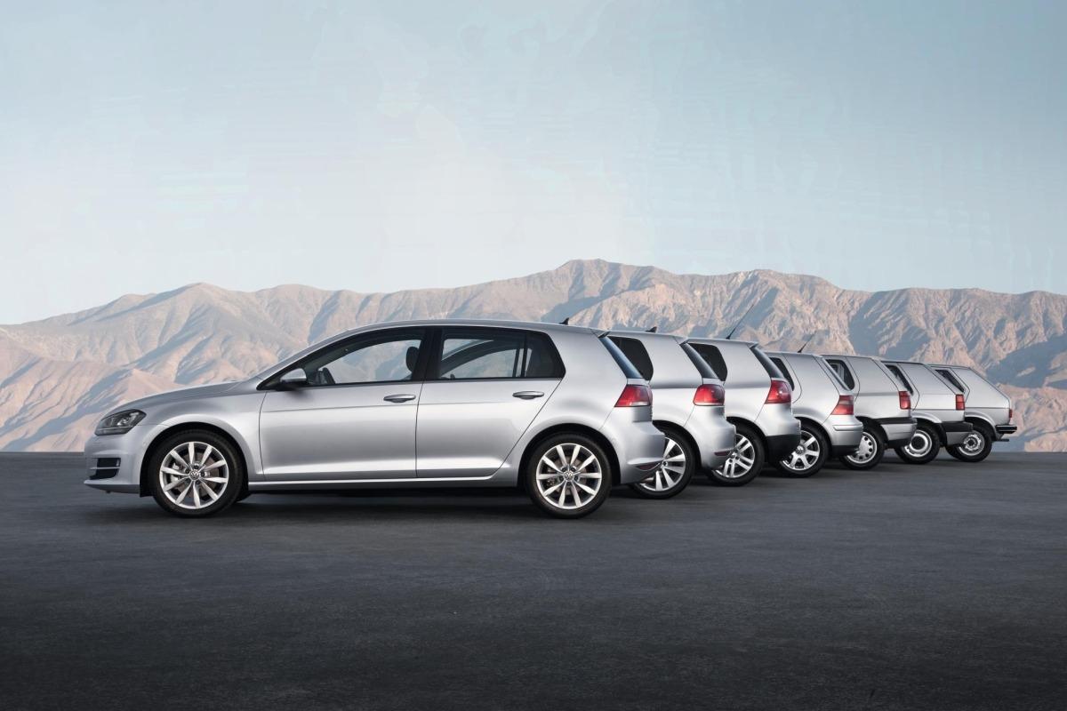 Las siete generaciones del VW Golf.