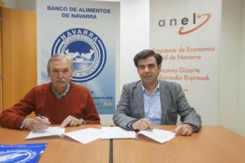 Joaquín Fernández Eraso, presidente de la Fundación Banco de Alimentos de Navarra, e Ignacio Ugalde Barbería, presidente de ANEL.