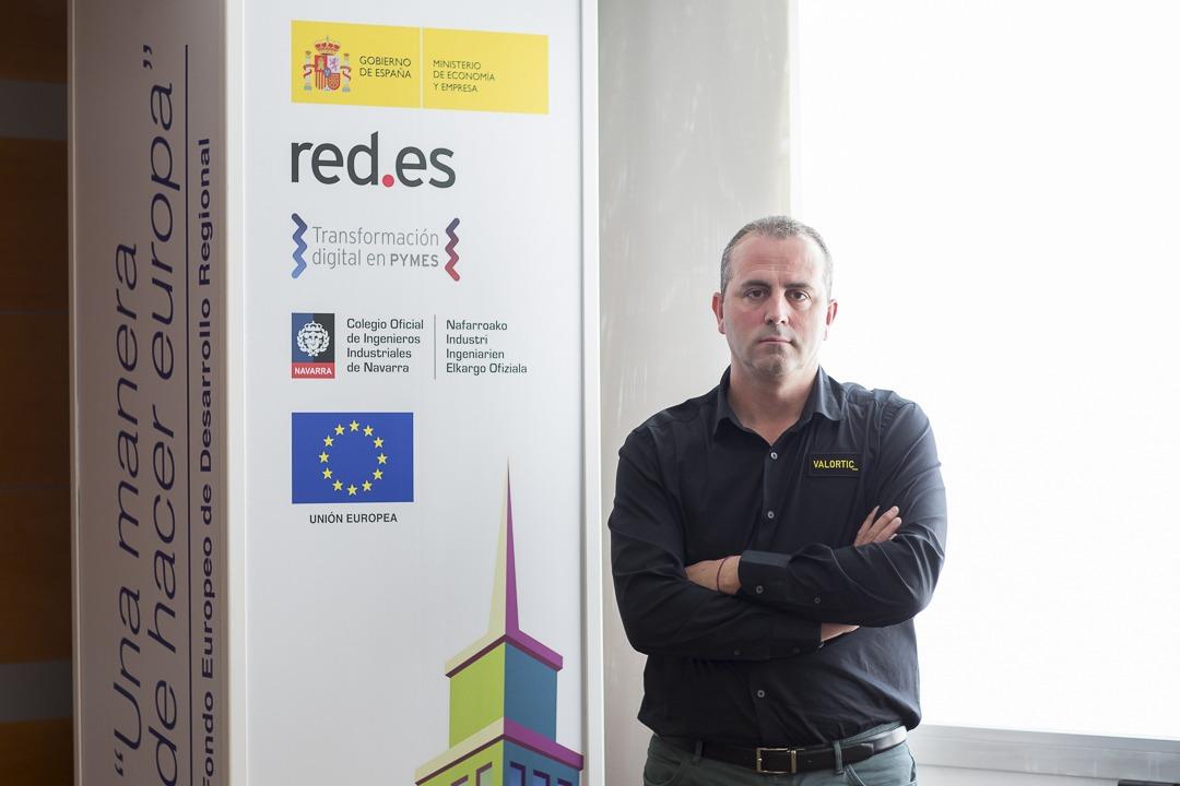 Diego Pérez, de Valortic Servicios Informáticos, colabora con FIN en la concienciación de las pymes hacia la Transformación Digital. (Fotos: Ana Osés)
