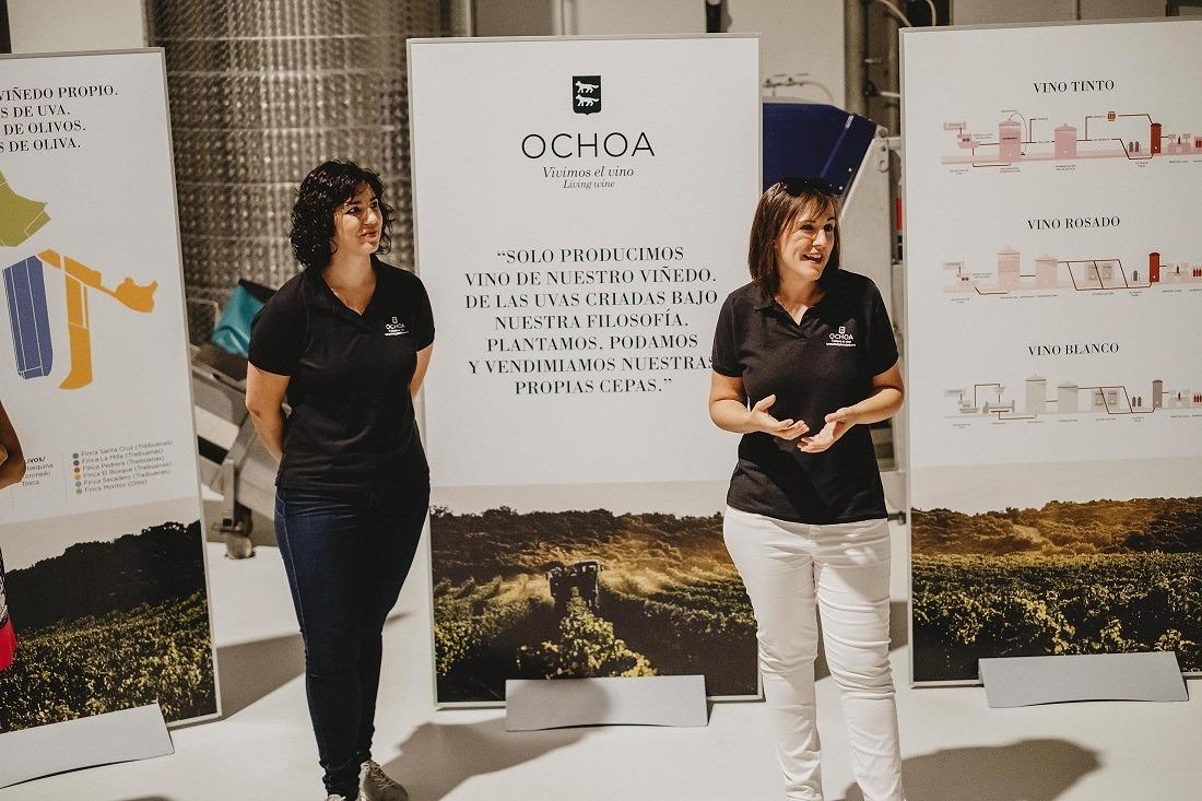 Las hermanas Ochoa en una de las jornadas de puertas abiertas