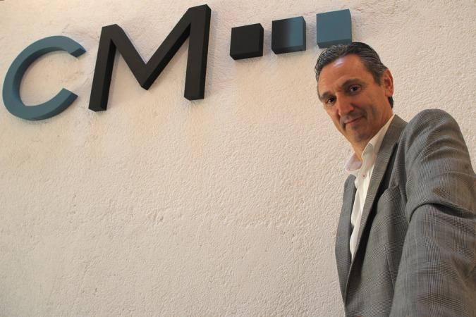 Carlos Mangado, fotografiado en La Fábrica de Gomas.