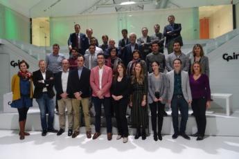Participantes en la clausura de la sexta edición del programa Impulso Emprendedor en CEIN en enero.