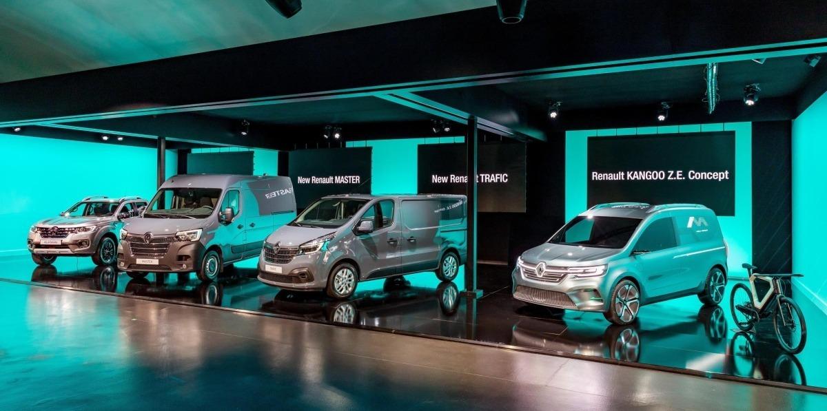 Renault presenta 4 nuevos vehículos comerciales para el mercado global.