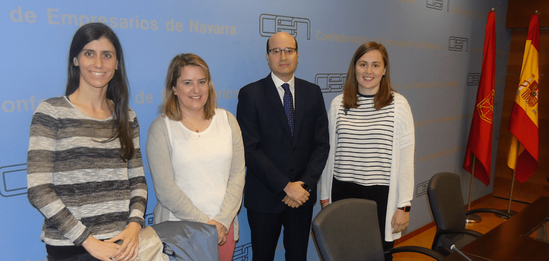 Ana Monreal (iAR), Elisa Genua (Schneider Electric), Carlos Fernández Valdivielso (CEN) y Blanca Santesteban (Biko).