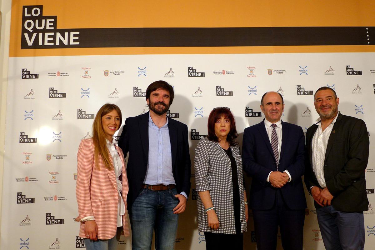 Natalia Oliver (Enhol), Eneko Larrarte, Teresa Montoro (AICE), Manu Ayerdi y José María Agramonte (Bardenas).