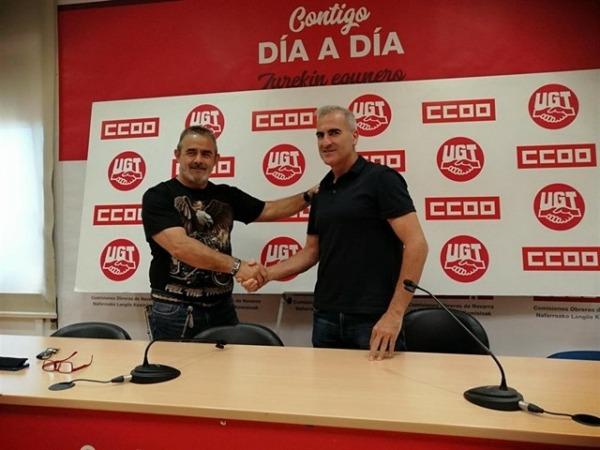 EUGENIO DUQUE-ALFREDO MORALES-CCOO-UGT-Volkswagen Navarra