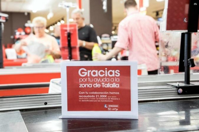 Lo recaudado va a ser canalizado a través del Gobierno de Navarra para que sean destinados íntegramente a los afectados por las inundaciones.