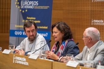 La comisaria del Xacobeo, Cecilia Pereira, que participó en los Cursos Europeos de Verano, volverá a Pamplona el 26 de septiembre. (Foto: archivo)