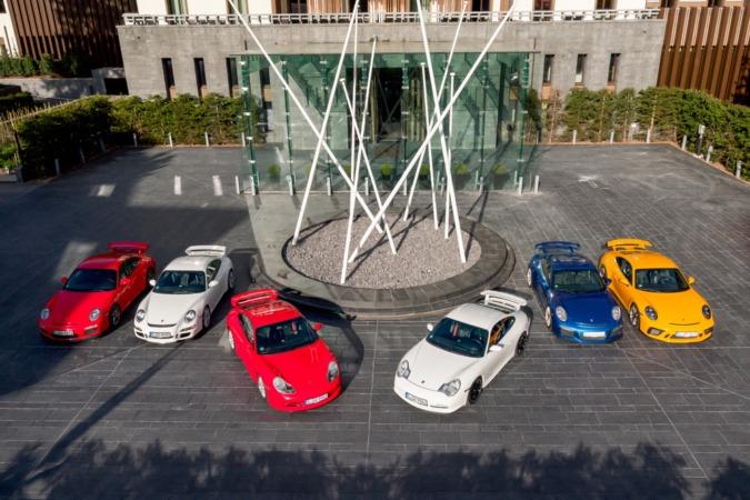 Todas las generaciones del Porsche 911 GT3.