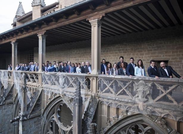 Encuentro de empresarios indios y navarros en la Catedral de Pamplona.