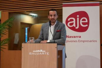 Javier Vidorreta, presidente de AJE Navarra.