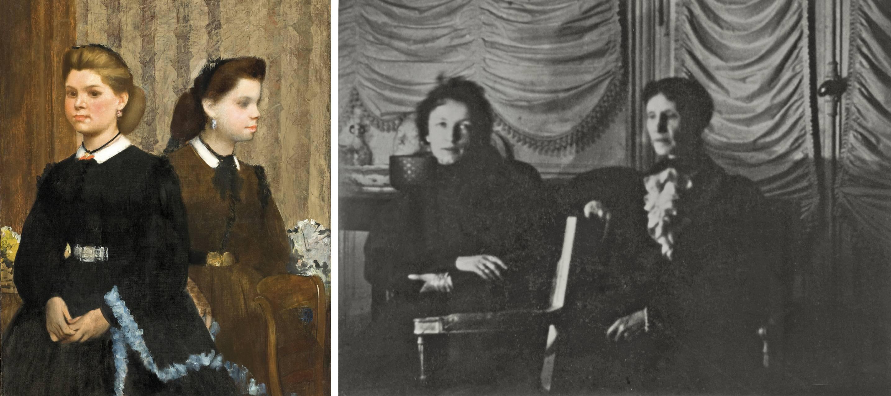 'Las hermanas Bellelli' y 'Geneviéve y Marie Mallarmé' , ambas de Edgar Degas.