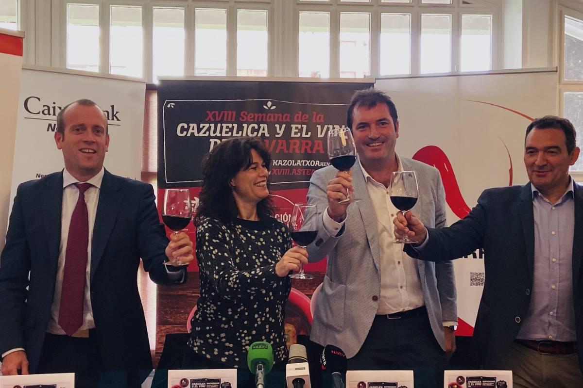 De izda. a dcha.: Pablo Andoño, Natalia Ecay, David Palacios y Santiago Enciso. (Foto: Irene Iriarte)