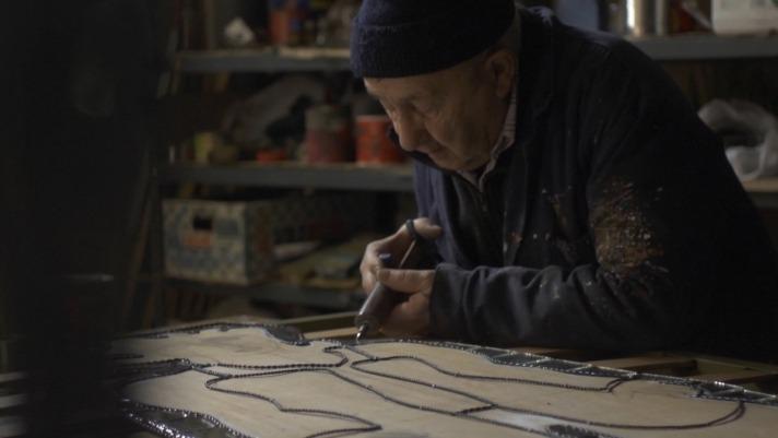 Con 92 años, Patxi Buldain ha realizado más de 100 exposiciones