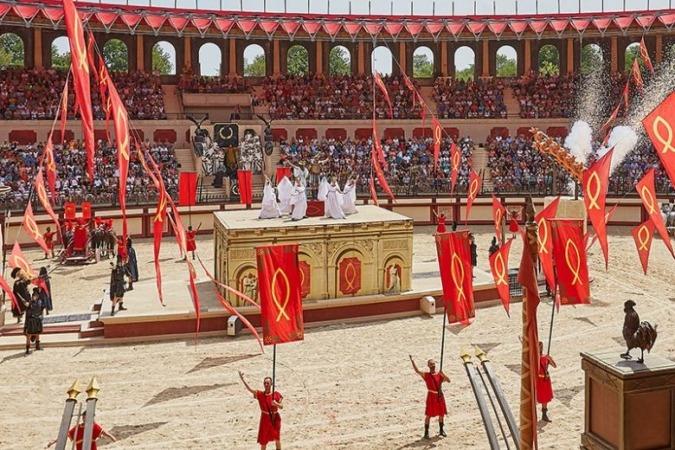 El parque recrea un impresionante espectáculo de Circo de la Antigua Roma.