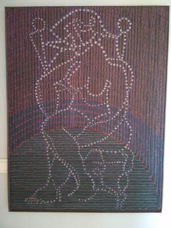 Una de sus obras realizadas con la técnica de puntos.
