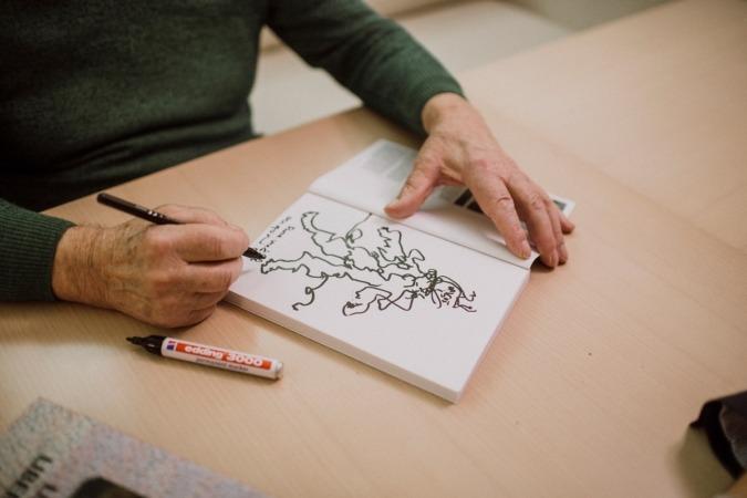 La obra de Patxi habla del arte en esencia, ese arte que narra y describe la historia.