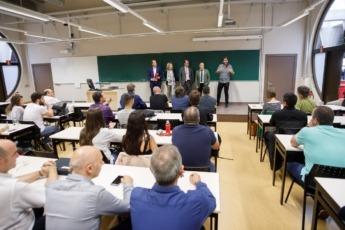 En la apertura participó Izaskun Goñi, directora general de Política Empresarial y Manu Ayerdi, Consejero de Desarrollo Económico del Gobierno de Navarra.