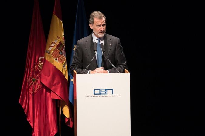 El rey alaba las capacidades y el dinamismo económico de Navarra
